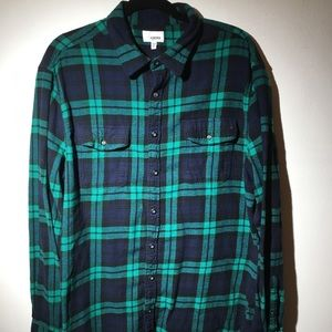 Men's green and black Sonoma flannel size XL